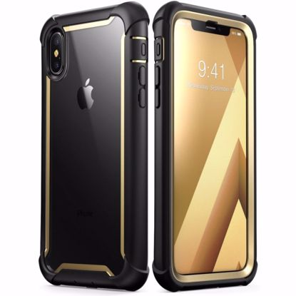 Picture of i-Blason i-Blason Ares Clear Case with Screen Protector for Apple iPhone XS Max in Gold