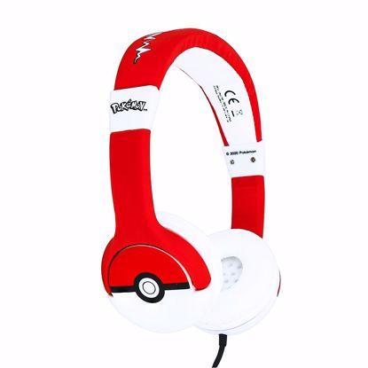 Picture of OTL OTL Pok'mon Pok'ball Junior Headphones in Red/White
