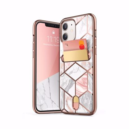 Picture of i-Blason i-Blason Cosmo Wallet Designer Case for Apple iPhone 12/12 Pro in Marble