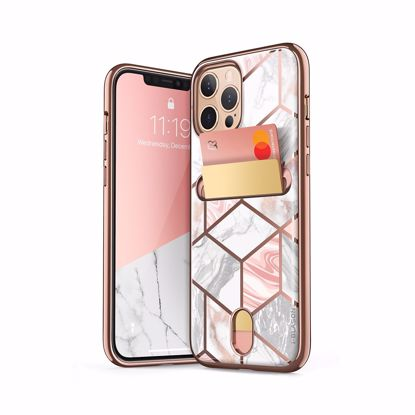 Picture of i-Blason i-Blason Cosmo Wallet Designer Case for Apple iPhone 12 Pro Max in Marble