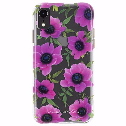 Picture of Case-Mate Case-Mate Wallpapers Case for Apple iPhone XR in Pink Poppy